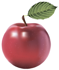 Red Waxed Apple Png