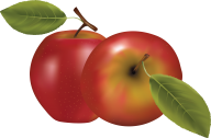 Reddish Apple Png Clipart