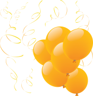Shiny Yellow Balloons Png