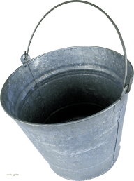 SILVER  ALMUNIUM BUCKET FREE PNG DOWNLOAD