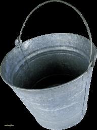 SILVER  ALMUNIUM BUCKET FREE PNG DOWNLOAD