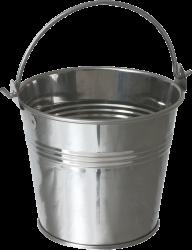 silver handel bucket free png download