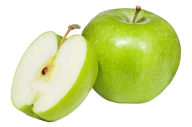 Sliced and Full Apple Png