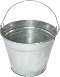 small silver bucket free png download