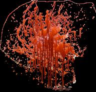 sprayed flowing blood free png download