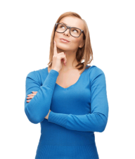 Thinking Woman PNG Free Download 24