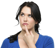 Thinking Woman PNG Free Download 3