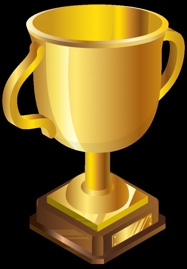 3D Golden Cup Png Image
