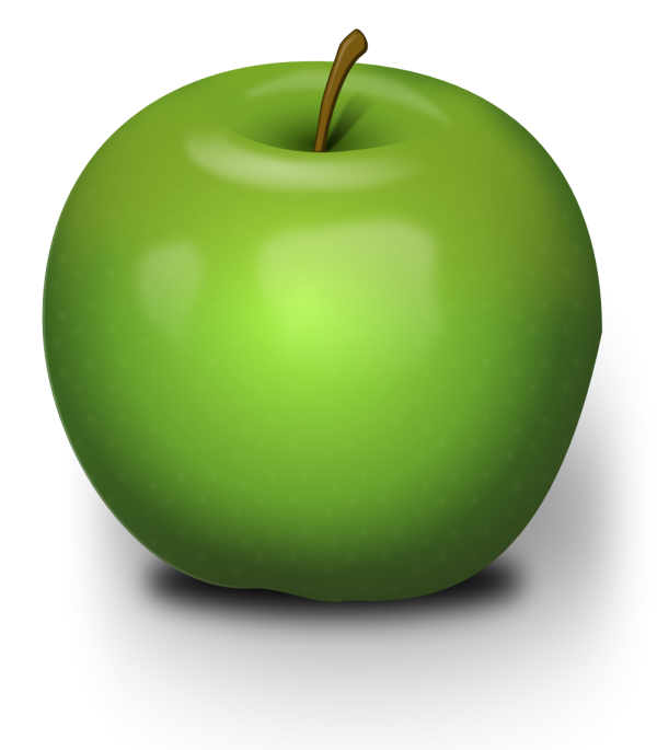 3D Green Apple Png