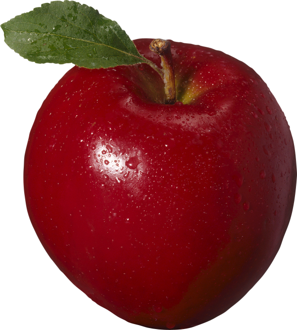 Apple png with water drops