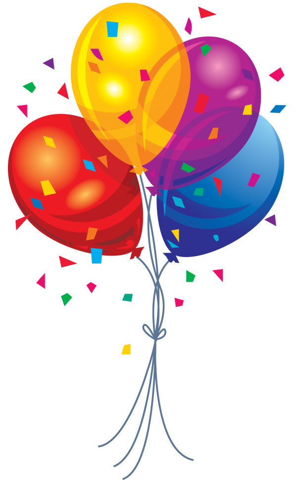 Balloon With Papers Flying Png