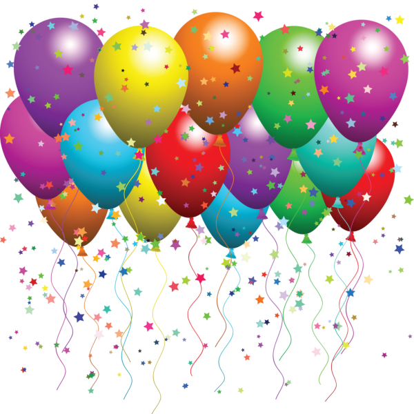 Balloons With Stars Png for Web Designing