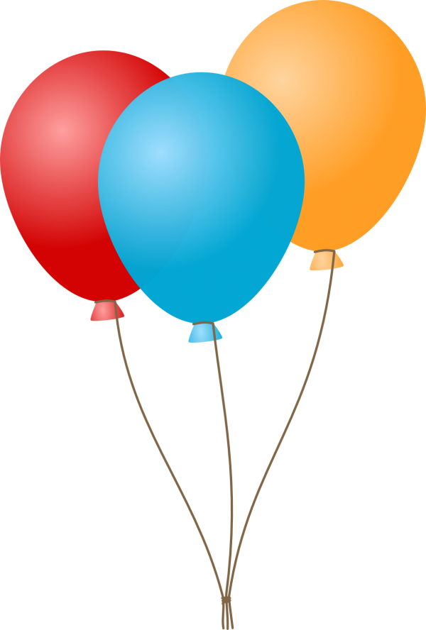 Blue Red and Yellow Balloons Icon