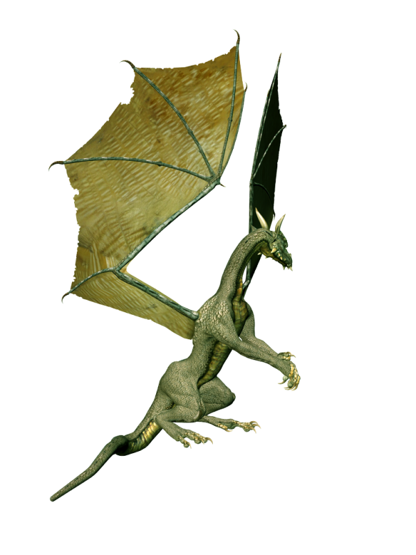 flying dragon 3d art png free