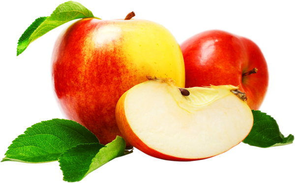 Full and Sliced Apple Fruit Png