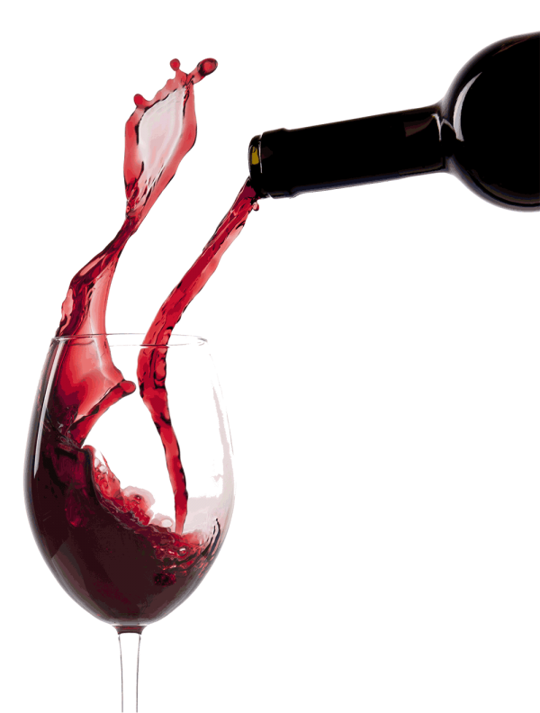 Glass png with Red Wine