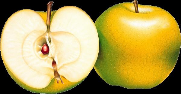 Greenish Yellow Apple Png