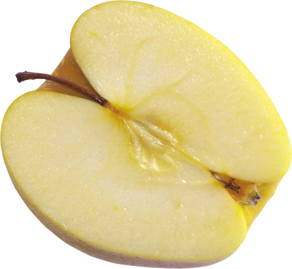 Half Sliced Yellow Apple Png Free Download