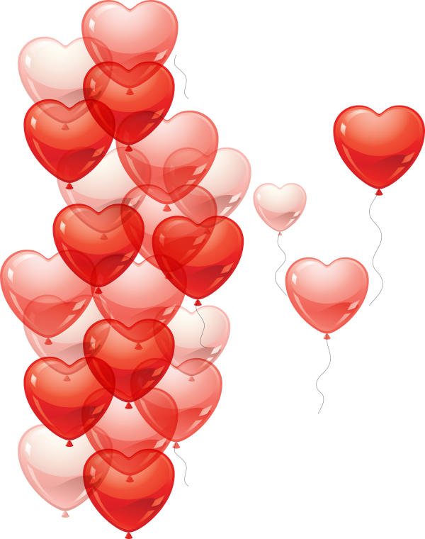 Heart Shape Ballons for Web Designing
