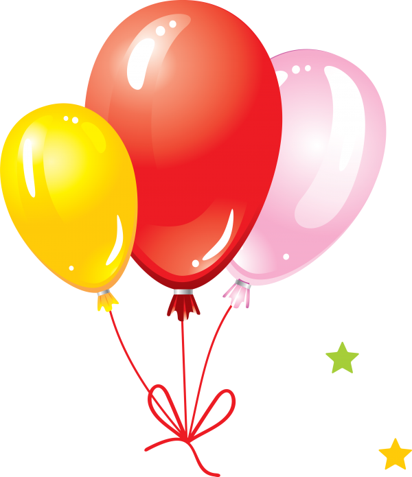 Knotted Three Balloons Png