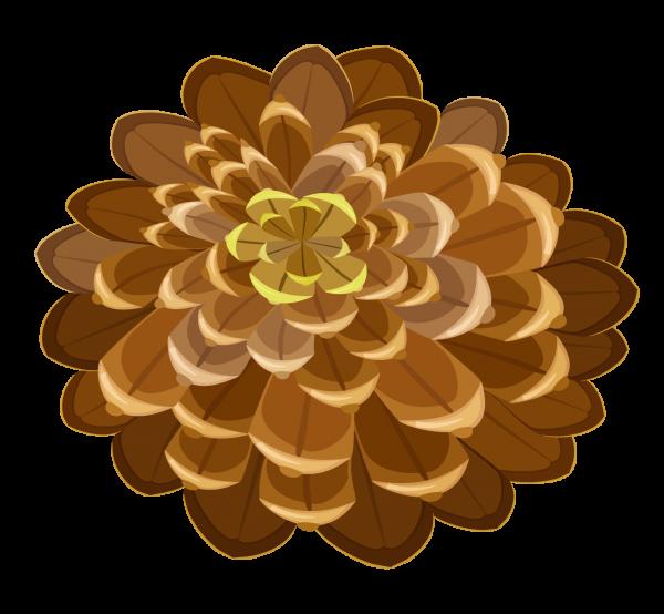 Pine Cone Drawn Image