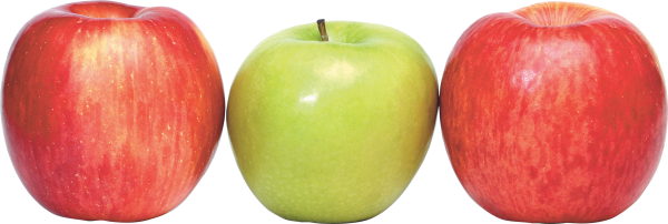 Red and Green Apple Png