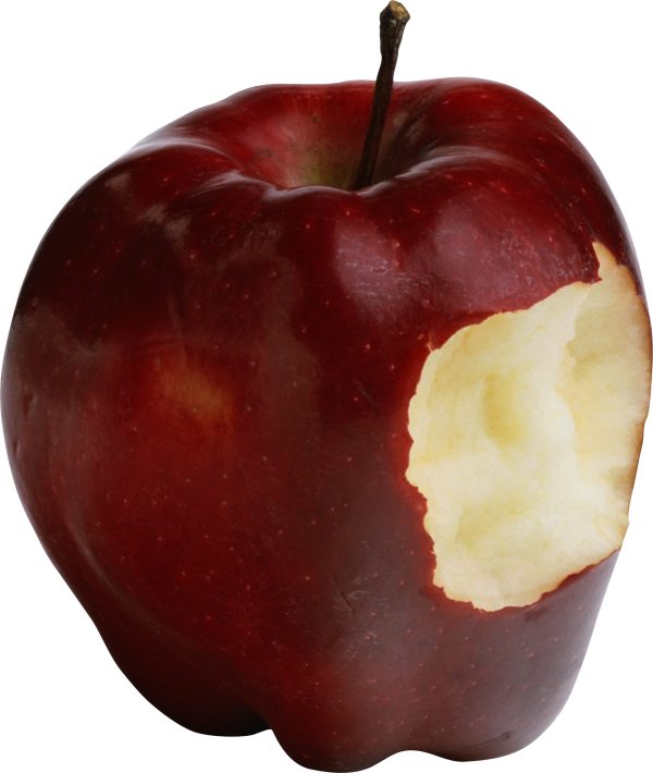 Red Bitten Apple Png