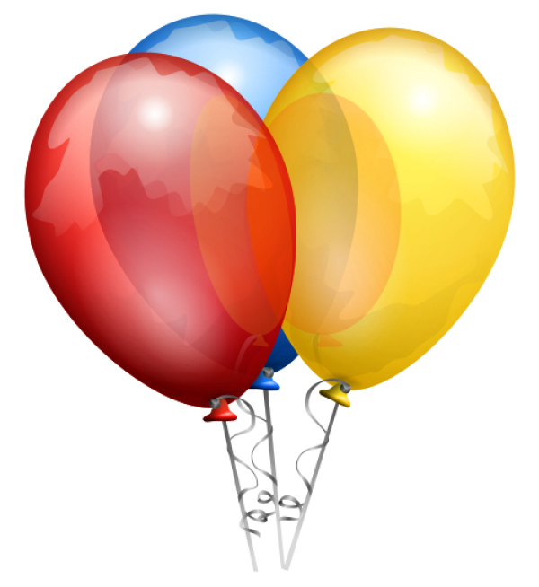 Red Blue and Yellow Balloons