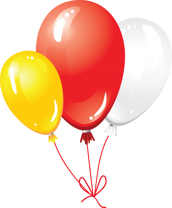 Red Yellow and White Balloon Png