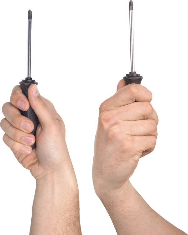 Screwdriver With Hand Png Image