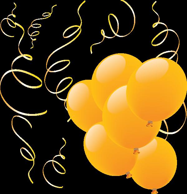 Shiny Yellow Balloons Png