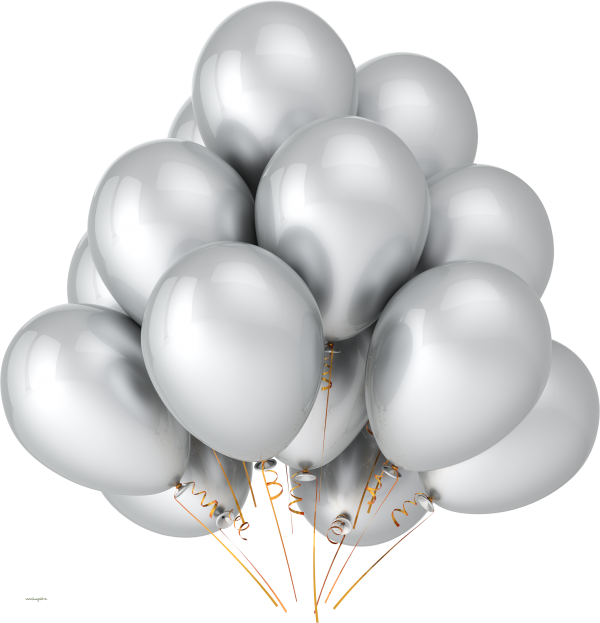 Silver Balloons Png