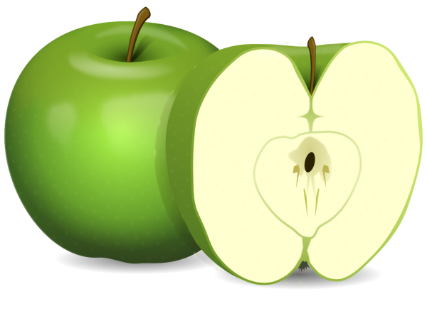 Slice Green Apple Png