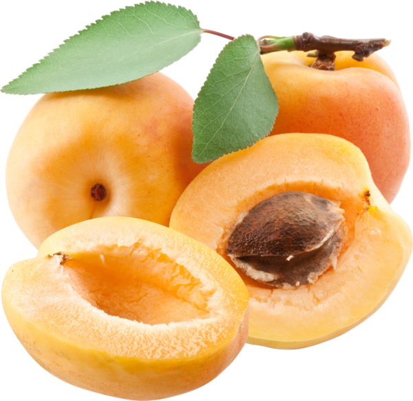 Three Apricot Png One Sliced