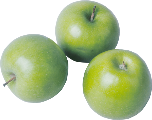 Three Green Apples For Clipart
