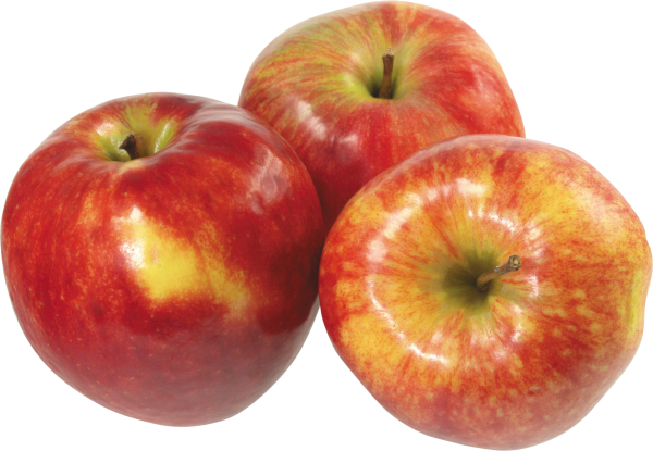 Three Red Apples Png