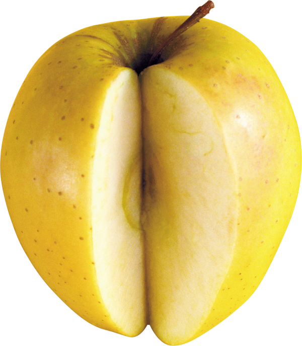 Yellow Sliced Apple Png