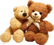 Two Cute Png Teddy Bears
