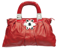 women fancy red white handbag free png download