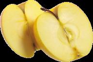 Yellow Apple Png Half Sliced