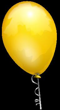 Yellow Balloon Png