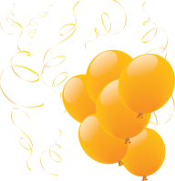 Yellow Balloons Png