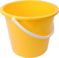 YELLOW BUCKET FREE PNG DOWNLOAD