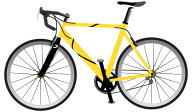 yellow frame bicycle free clipart download